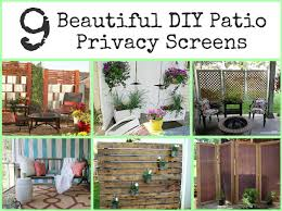 diy outdoor privacy screen interesting ideas for home outdoor