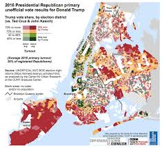 fun maps nyc primary election results mapped for republican and