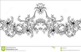 ornamental border frame baroque pattern vector seamless stock