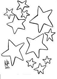 free printable star clipart 85