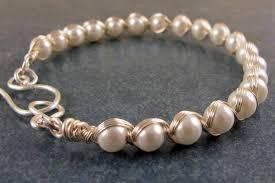 easy pearl bracelet images Easy elegant wrapped pearl bracelet blue santa beads jpg