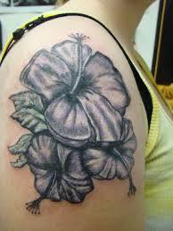 black shoulder tattoo 93 classic hibiscus flower tattoos on shoulder
