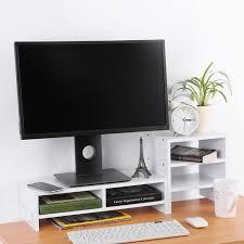 fixation pc sous bureau support d écran d ordinateur de bureau en bois 3 couche