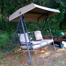 garden swing bench canopy zoom garden treasures 3 seat swing