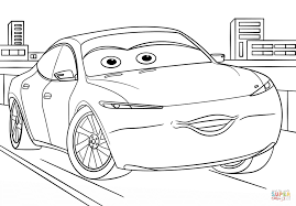 natalie certain from cars 3 coloring page free printable