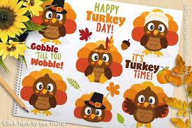 thanksgiving turkey day clipart illustrations creative market
