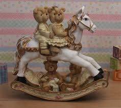 Carousel Horse Centerpiece by Teddy Bear Rocking Horse