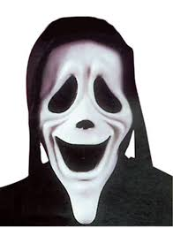 Halloween Costumes Scream Mask Scary Movie Smiley Ghostface Mask Fun Karnival