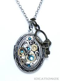 necklace locket images Steampunk locket necklace jpeg