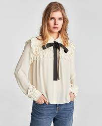 ruffled blouse ruffled blouse with contrasting bow blouses shirts tops