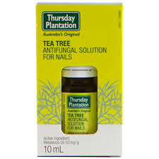 buy tea tree antifungal solution for nails 10 ml by thursday