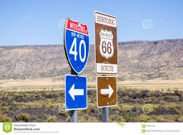 Route 66 New Mexico Map by Interstate I40 And Route 66 Combined Sign New Mexico Usa