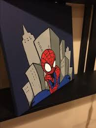 spiderman canvas painting class demo party arty kim