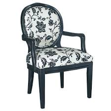 Black And White Accent Chair Black Wooden Chair With Oval Back And Arm Rest Combined With