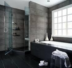 interior cool bathroom designs with oval soaking bathtub in