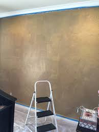 Mixing Paint Instagram by How To Paint A Wall With Gold Glitter Little Lovelies Blog