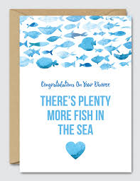 congratulations on your divorce card congratulations on your divorce there s plenty more fish in the