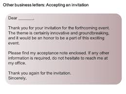 invitation acceptance thank you letter free custom invitation