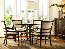 dining table with caster chairs dining table and chairs with casters dining room dining table with