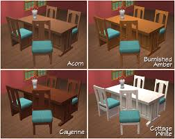 mod the sims ofb mission style dining set recolors