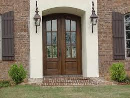 craftsman front door with brick walls home exterior pinterest