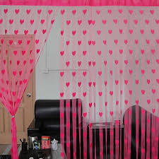 String Tassel Curtains Cute Heart Line Tassel String Door Curtain Window Room Divider