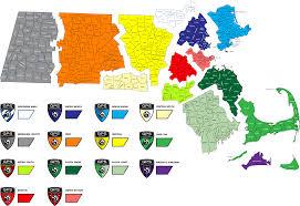 Boston County Map by Regions