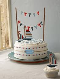 sailboat cake topper bundting banner cake topper so more party inspiration at