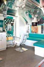 old fashinoned hairdressers and there salon potos see this ratty old trailer transform into a stunning salon