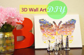 Butterfly 3d Wall Art by Diy Butterfly 3d Wall Art Gift U0027s Diy Youtube