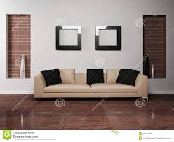 modern interior design of living room with stock illustration
