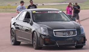 turbo cadillac cts v 1200hp turbocharged cadillac cts v hits the drags