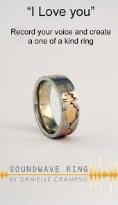 wavelength wedding band heartbeat rings my heart beats for you record your heartbeat