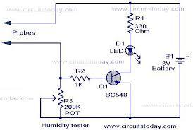 humidity tester circuit using sensor