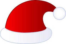 santa hat clipart outline png clipartxtras