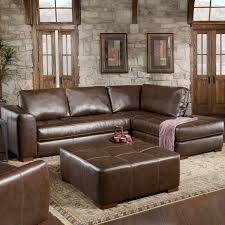 Colored Sectional Sofas by Abbyson Taylor Leather Reversible Sectional And Ottoman Hayneedle
