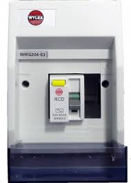 nhrs204 63 2 way insulated consumer unit c w 63a dp 30ma rcd