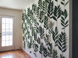 the belletrist amanda s baby shower and a palm leaf wall now for this wall i was originally going to try kale because i have this dream of a wall covered in kale but i tried a couple of test runs and turns