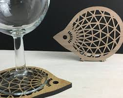 gifts for an architect hedgehog coaster wood coasters wall art parametric design