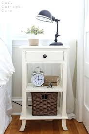 small bedside table simple gray x tall nightstand bedside table