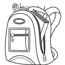 backpack coloring page exprimartdesign com