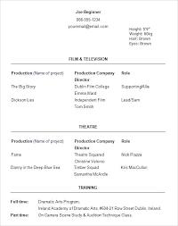 musical theatre resume exles 2 theatre resume template word theatre resume template lovely acting
