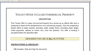 tenant offer to lease commercial property youtube