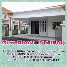 taman tunku new house for rent rm1000 month miri property market
