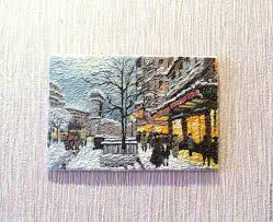 polymer clay a wooden substrate imitation oil painting