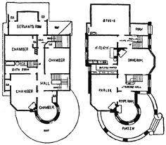1878 print victorian villa house architectural design floor plans