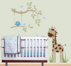 White Tree Wall Decal Nursery Wall Decor For Baby Boy Enchanting Decor Baby Boy Wall Decal