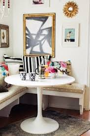 Diy Eating Nook Using Ikea Benches Bistro Table Corner Booth - Apartment kitchen table