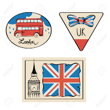 travel stickers images Travel stickers uk set illustrations with symbols of united jpg