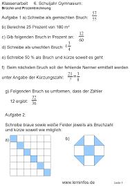 mathe brüche klasse 6 mathearbeit klasse 6 bruchrechnung interaktiv